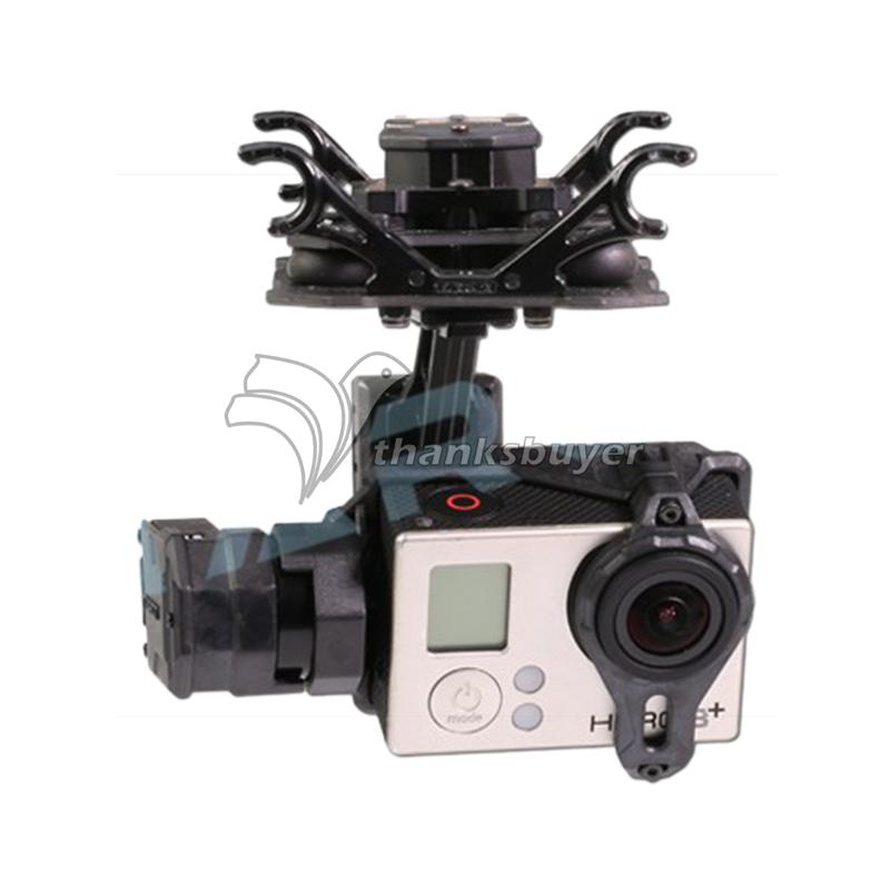 Tarot T4-3D Dual-Shock-Absorber 3-Axis Gimbal PTZ for Camera Gopro Hero4 3+ 3 TL3D02 Multicopter upgrade debugging edition jiyi fpv g3 3d 3 axis gimbal for gopro hero3 3 hero4 aerial photography