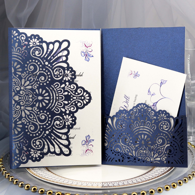 Wedding Invitations Business: 1pcs Elegant Laser Cut Wedding Invitation Cards Greeting