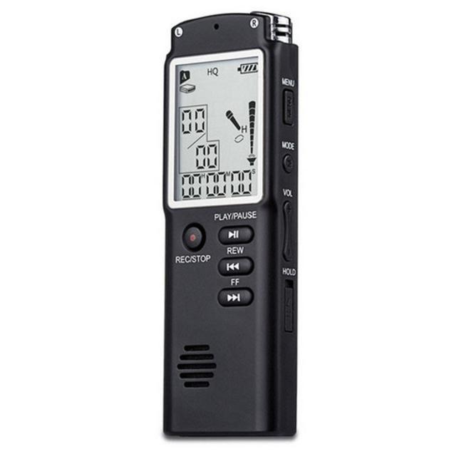 Profesional 8 GB de Memoria Tiempo de Grabación de Pantalla Digital de Voz/Grabadora de Audio Reproductor de MP3 con Micrófono # ED #