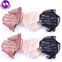 Wig-Cap Making-Wigs Brown Plastic Strap Mesh-Net Adjustable Black with for Backside 5pcs