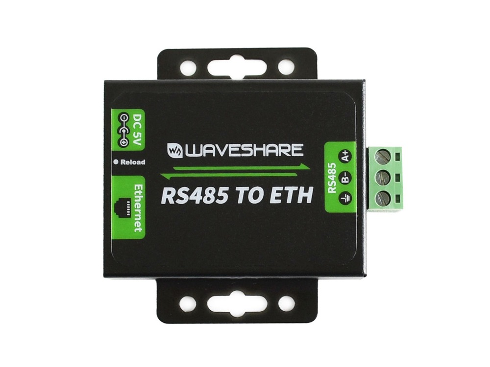 Waveshare RS485 To Ethernet Converter High-stability Upgradable Cortex-M0 Processor 5~7V Power Supply