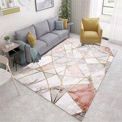 Marmeren streep serie tapijt Nordic Moderne eenvoudige slaapkamer tapijt en Tapijten voor woonkamer koffietafel Tapijten Nachtkastje Antislip Mat