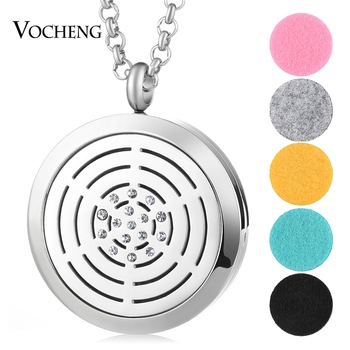 10pcs/lot 316L Stainless Steel Aromathrapy Jewelry Pendant Essential Oil Diffuser Lockets Necklace With Oil Pads VA-464*10