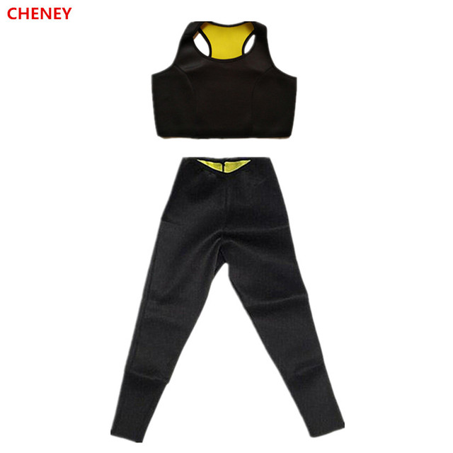 cc11cccc21005 Women Waist Trimmer Thermal Camisole Vest Corset Natural Weight-Loss  Neoprene Detox Hot Workout Body Shapers Long Slimming Pants