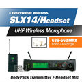 Free Shipping! SLX14 SLX1 UHF Professional Wireless Microphone System With Bodypack Headset Microphone Band L4 638-662Mhz