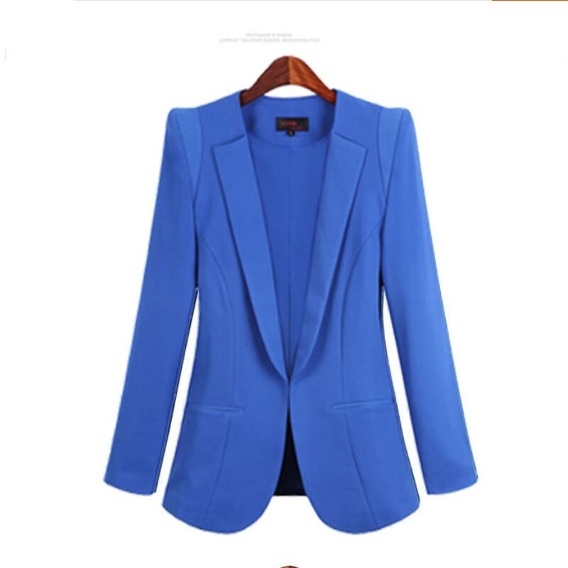 BRE New Plus Size Womens Business Suits Spring Autumn All-match women Blazers Jackets Short Slim long-sleeve Blazer Women Suit