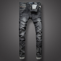 Italian Style Retro Mens Jeans Black Color Slim Fit Denim Jeans Men Buttons Pants Brand Clothing Fashion Skinny Jeans Size 29 38
