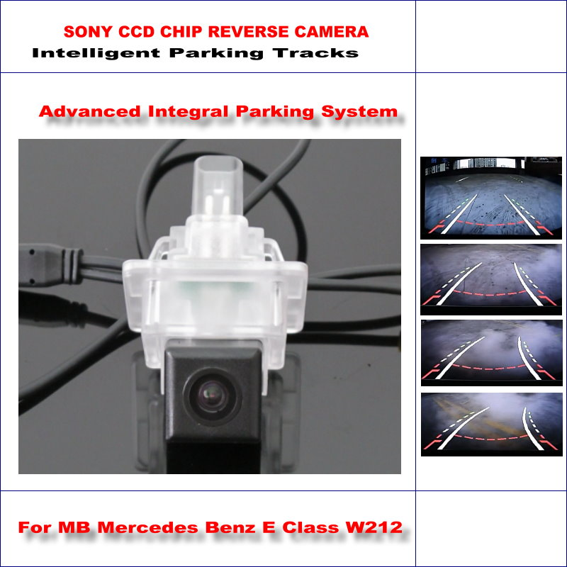 Intelligent Parking Tracks Car Rear Camera For Mercedes Benz E Class W212 2010-2015 Reverse / NTSC RCA AUX HD SONY 580 TV Lines