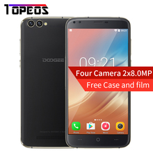 DOOGEE X30 Four Camera 2x8.0MP+2x5.0MP Android 7.0 mobile phone 3360mAh 5.5'' MTK6580A Quad Core 2GB RAM 16GB ROM Smartphone(China)