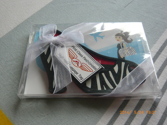 wedding favor gift cinderella slipper high heel luggage tag wedding bridal shower favor party souvenir