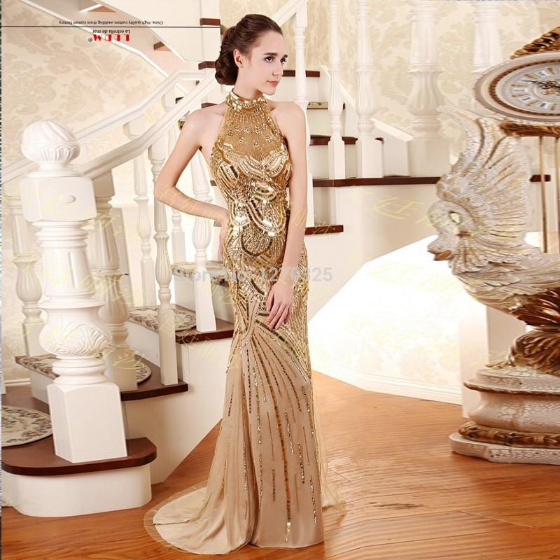 Abendkleider 2019 kristall new high neck lace sexy mermaid red gold vestido de festa longo de luxo plus size  abiye