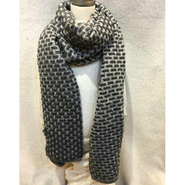 Online-Shop Herbst Winter Blocking Farbe Schal Frauen H Muster ...