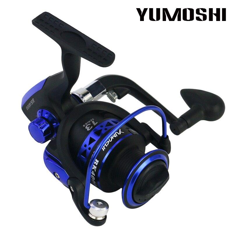 YUMOSHI Brand Fishing Reel + Fishing Rod Metal Spool Spinning Reel for Sea Fishing Carp Fishing Rod Combo