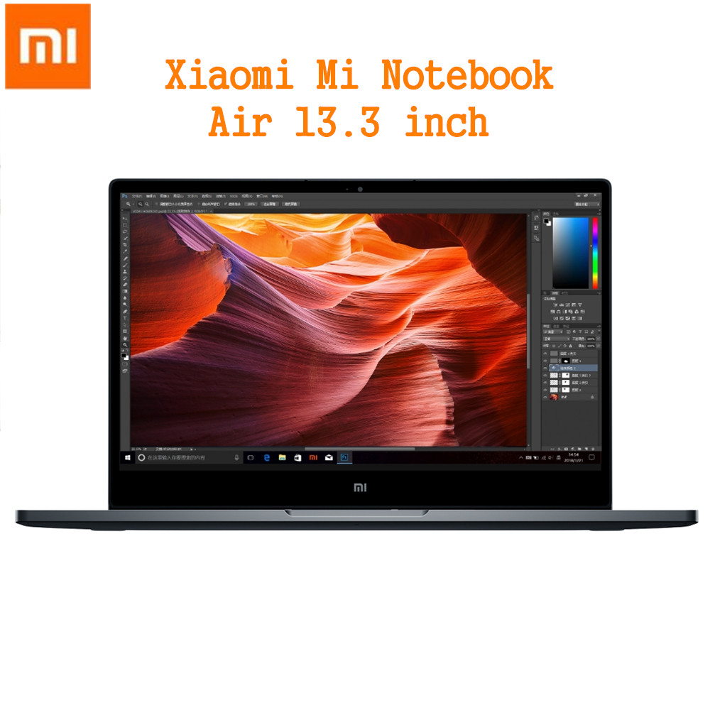 Xiao mi mi notebook air 13.3 Finestre 10 pc del COMPUTER Portatile Di Intel core I5-8250U 2.5 ghz 8 gb di ram 256 GB SSD Sensore di Impronte Digitali Dual WiFi