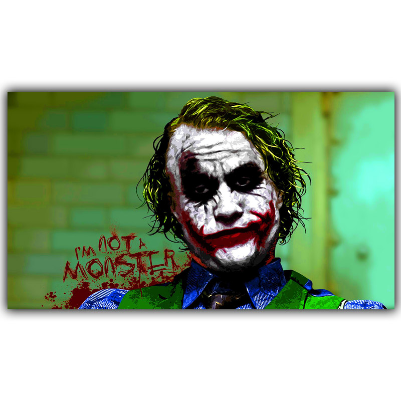 ⑧Joker Batman El caballero oscuro cita superhéroes cartel para la ...