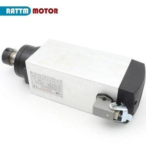 Image 3 - Bearings vatfree quadrado 4kw er25 refrigerado a ar do motor do eixo 4 rolamentos & 4kw vfd inversor 220 v para a máquina de trituração da gravura do roteador do cnc