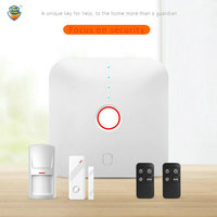 (1 Set) Smart WIFI kit For Home security Alarm support Apps control Wireless PIR Motion Door Contact sensor Anti Burglar System