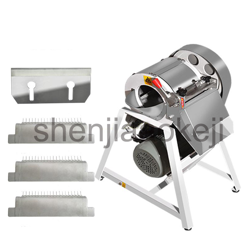 Stainless steel electric cutting machine Commercial vegetable slicer Professional vegetable shredder potato carrot cutter 220v free shipping ht 4 commercial manual tomato slicer onion slicing cutter machine vegetable cutting machine