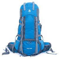 Jungle King  China High quality outdoor camping hiking bag nylon high tear strength adjusting 75+10L heavy backpack shoulders