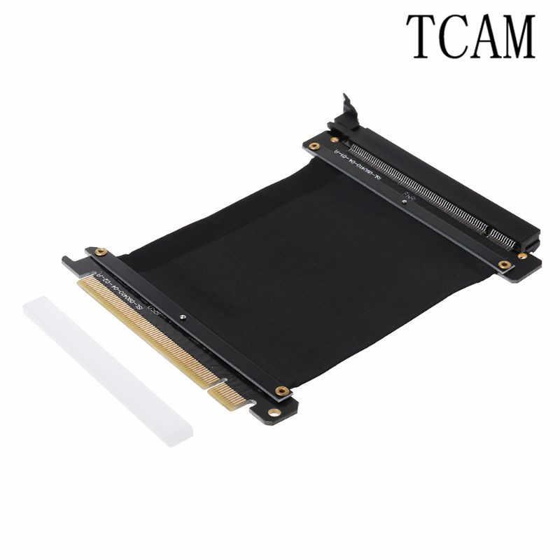 Pci express 16x elastyczny kabel karta rozszerzająca rozszerzenie adapter portu karta wideo przedłużyć przewód dla 1U 2U podwozie