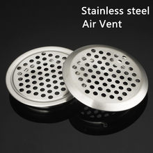 4pcs/lot Wardrobe Cabinet Mesh Hole Air Vent Louver Ventilation Cover Stainless Steel Cutting hole Dia.19mm/25mm/29mm/35mm/53mm
