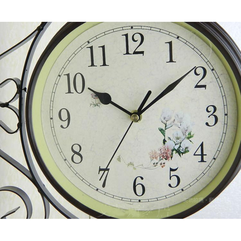watch double sided wall clock wanduhr vintage saat wrought iron digital wall clock klok mirror reloj mural relogio de paredein wall clocks from home