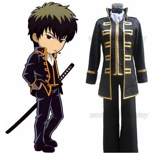 Livraison gratuite Gintama Hijikata Toushirou Shinsengumi Cosplay uniforme sur mesure pour Halloween et noël