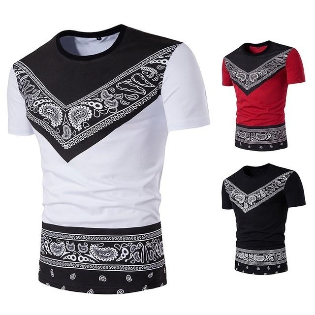 fa88a68e4a95 Summer African Men T-Shirt Dashiki Fashion Clothing Print Short Sleeves  Round Crew Neck Casual