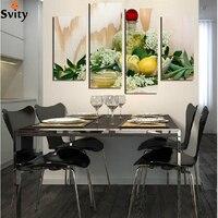 Succo di limone fiore foglie tela pittura moderna pitture murali per la parete della cucina home decor pittura su tela Senza Cornice F18858