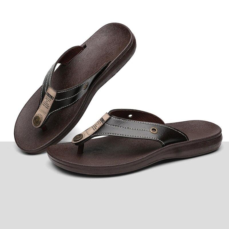 2018 Men Beach Slippers Flip Flops PVC Casual Shoes Summer Anti Slip Slippers BS88 fghgf shoes men s slippers mak