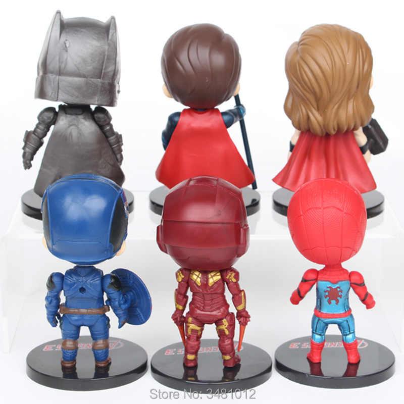 10 センチメートルアベンジャーズ 3 ミニチュアマーベルスーパーヒーロートール Pvc アクションフィギュアスパイダーマンアニメ置物人形子供のおもちゃ