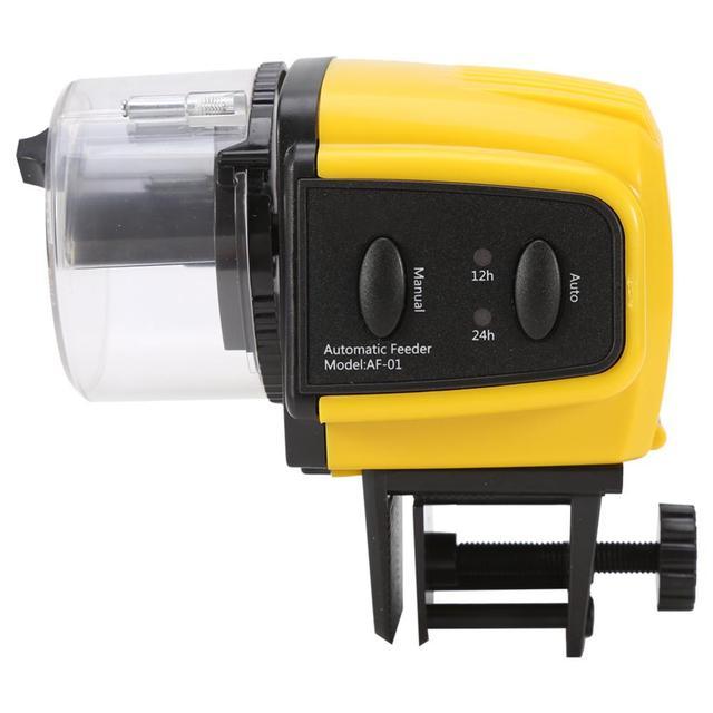 1PC Digital Automatic Electrical Plastic Fish Timer Feeder Home Aquarium Food Feeding Portable Fish Feeder Tools