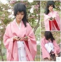 Anime Hakuouki cosplay yukimura chizuru cos halloween party kimono harujuku Long sleeve full set 3in1(Top+Pants+belt)