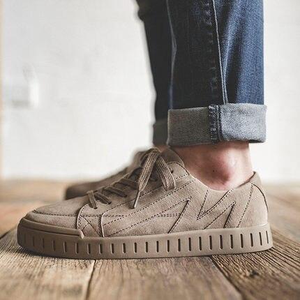 a1035ec292408 Tendance 6 4 2 Velours 1 En Angleterre Polyvalent Cuir Hommes Chaussures  D hiver 5 De ...