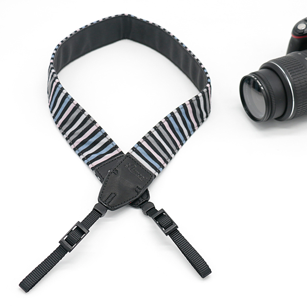 Color Striped LE-06 Camera Shoulder Strap For SLR DSLR For Canon Nikon Sony Camera free shipping