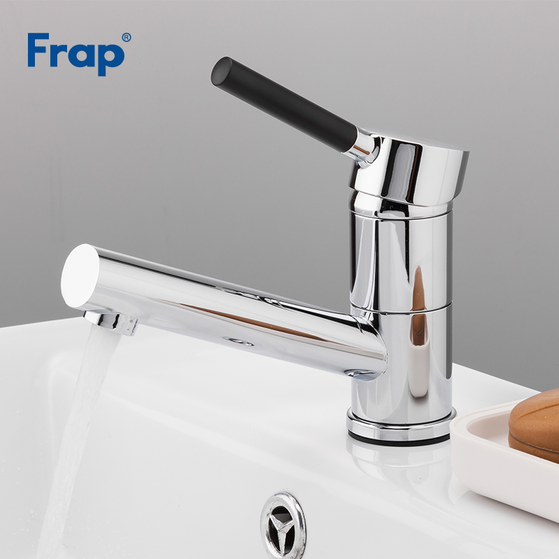 Frap Basin Faucet Kitchen Bathroom Sink Faucets Single Handle Hot and Cold Water Mix Taps Chrome Wash Tap Deck Mounted F4544 frap solid brass basin faucet hot cold water tap single handle wash chrome bathroom kitchen sink mixer wall mounted f4621