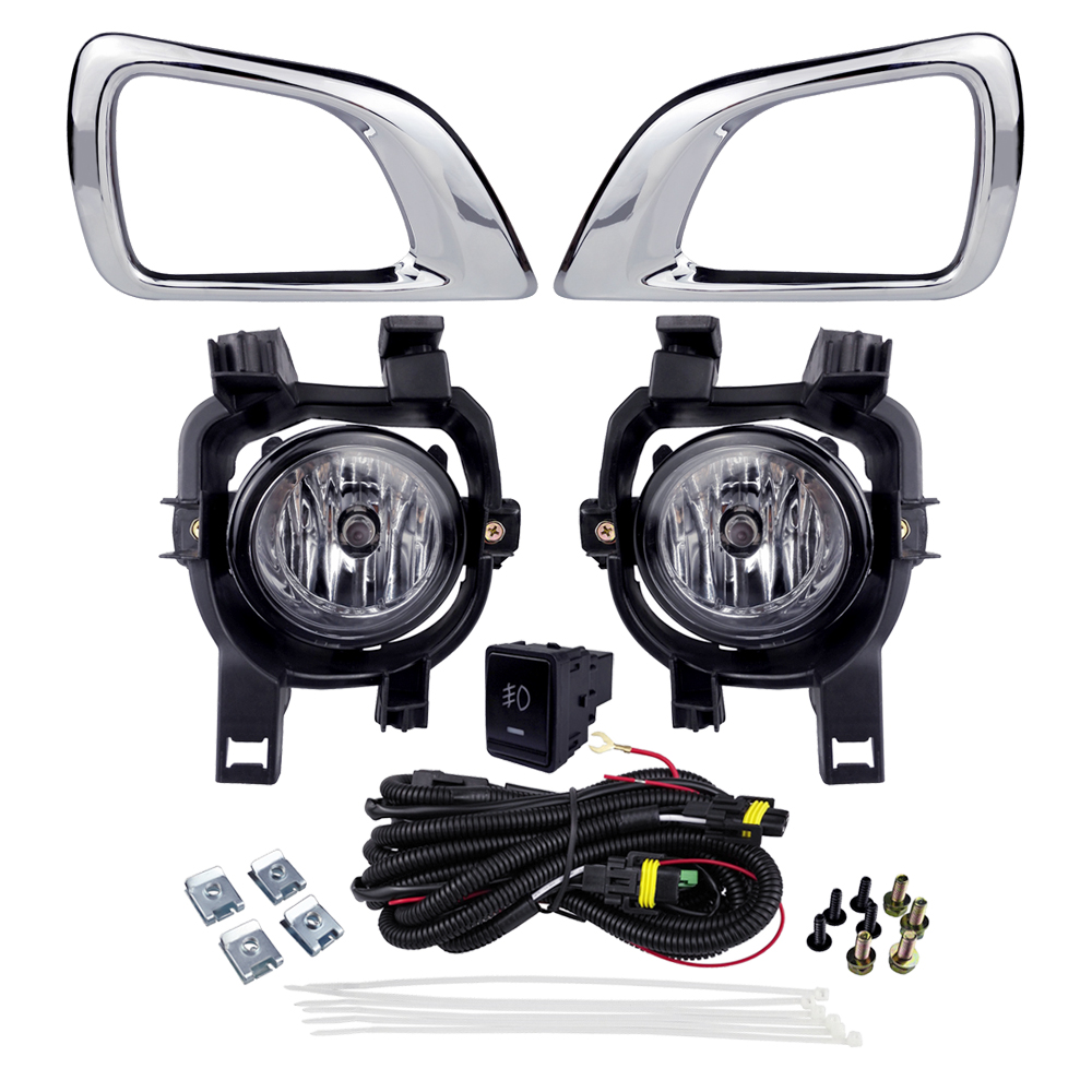 For NISSAN NP300 NAVRA 2016 Fog Light Assembly Car Lights ABS Plastic 4300K Yellow 12V 55W Halogen Lamp Accessories