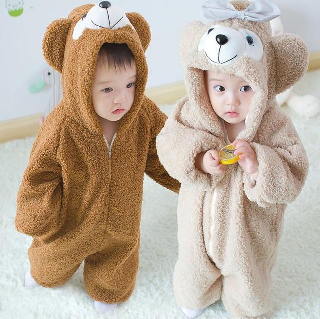 2016 НОВЫЙ Duffy Медведь Onesie/Пижамы/Ползунки Для Малыша Косплей Костюм для Детей Подарки Детские ползать одежда