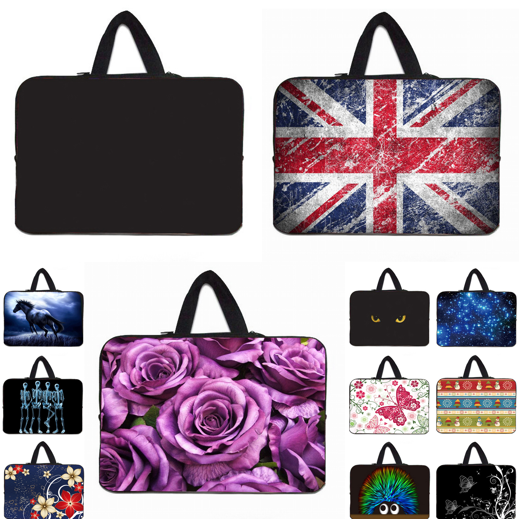 Laptop Bag17 inch 15 14 13 11.6 10 7 Notebook Handle Bags Cover For Dell XPS 10 12 13 14 Nexus 7 Macbook Air 11 13 Computer Hot