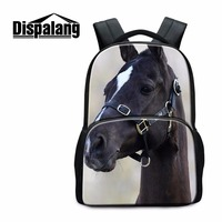 Youth Animal Laptop Backpacks for Children Large Capacity Horse Pattern School Bags for Boys Cute Bookbag for Teen Girls Mochila