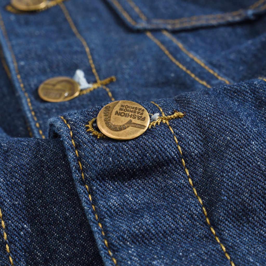 男性のジーンズのジャケット秋のジャケットとコート 2019 カジュアル長袖ターンダウン襟綿デニム chaquetas DouDouLu 服