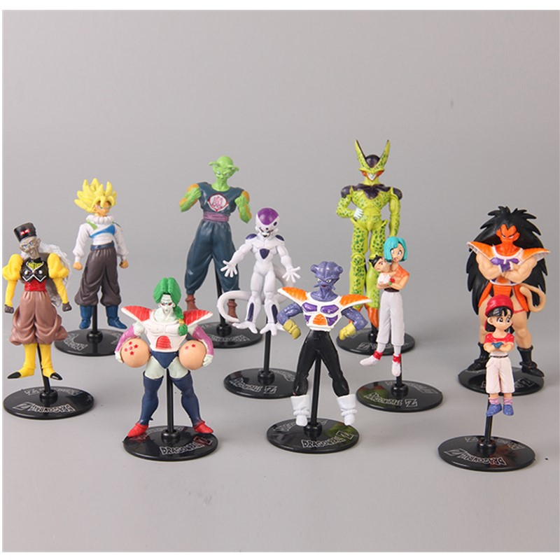 <font><b>10</b></font> teile/satz <font><b>Dragon</b></font> <font><b>Ball</b></font> Super Saiyan Goku Piccolo Frieza PVC Anime Cartoon Action Figure Sammeln Modell Spielzeug OPP D185 image