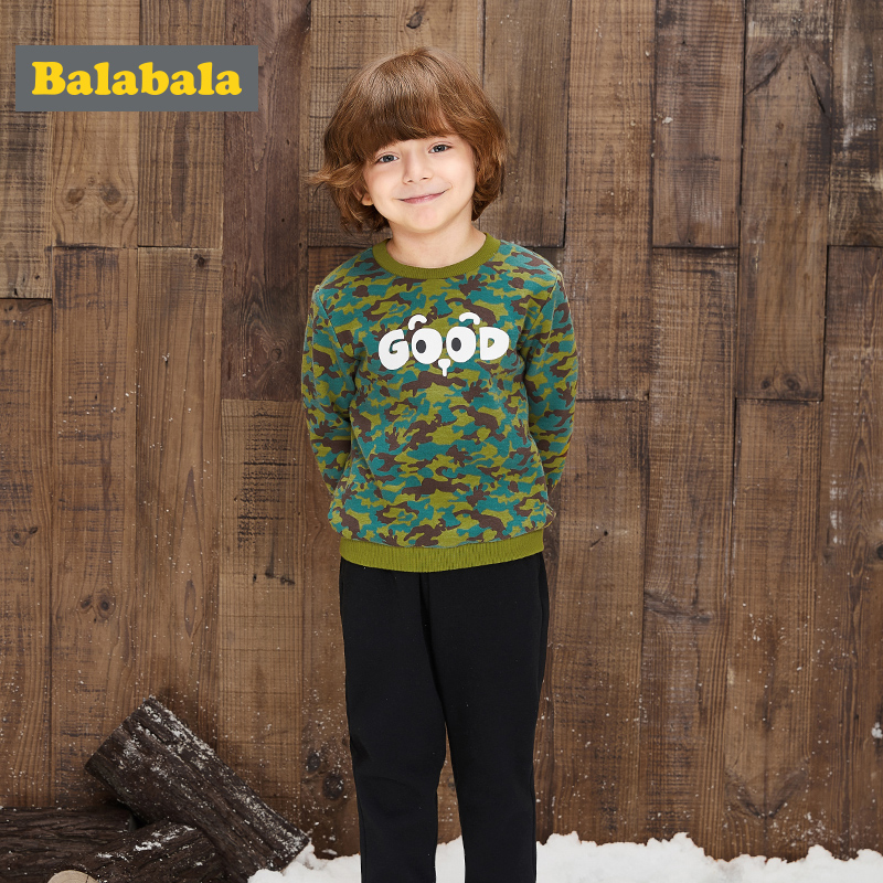 balabala tracksuit for baby boys Clothing Sets Baby warm winter Sports Casual sweater+pants Kids 2PCS cool kids suit clothes
