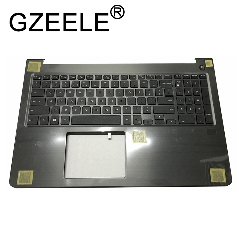 GZEELE New for Dell Vostro 15 5000 5568 V5568 Laptop palmrest upper case keyboard bezel topcase