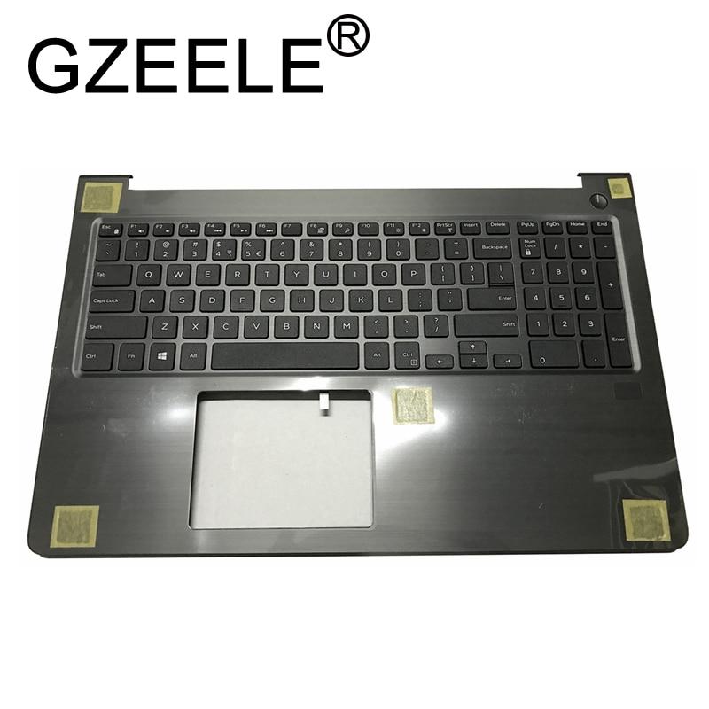 GZEELE New For Dell Vostro 15-5000 5568 V5568 Laptop Palmrest Upper Case Keyboard Bezel Topcase Cover