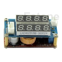 Free Shipping 5A Adjustable Power CC CV Step Down Charge Module LED Driver Voltmeter Ammeter