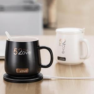 Image 1 - Akıllı kablosuz ısıtma kahve kupalar ev ofis kararlı 55 santigrat süt kupa kahve fincanları kablosuz şarj cihazı ile