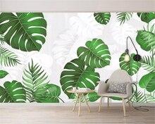 Купить с кэшбэком Beibehang custom made silk material 3d wallpaper Southeast Asia plant watercolor hand painted bedroom background wall wallpaper