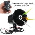 50W 12V Car Auto Motorcycle Megaphone Speaker Audio 6 Sound Siren Horns Van Truck MIC 105-115db