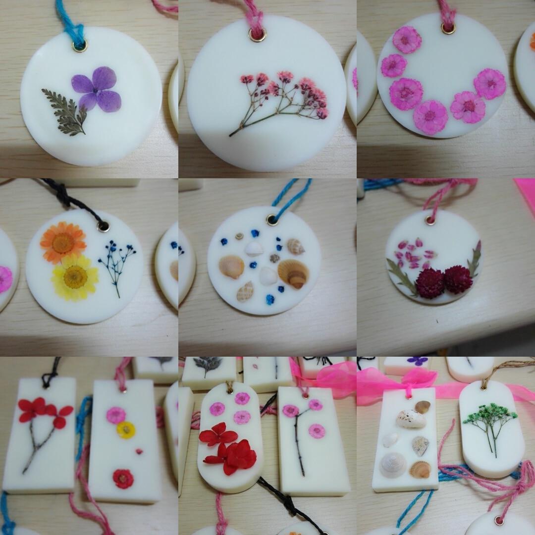 Bricolaje Velas de cera de soja e incienso Flor hecha a mano kaarsen - Decoración del hogar - foto 2